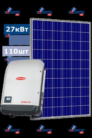 Мережева СЕС 27 кВт на базі інвертора Fronius