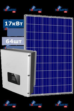 Сетевая CЭС 17 кВт на базе инвертора Huawei
