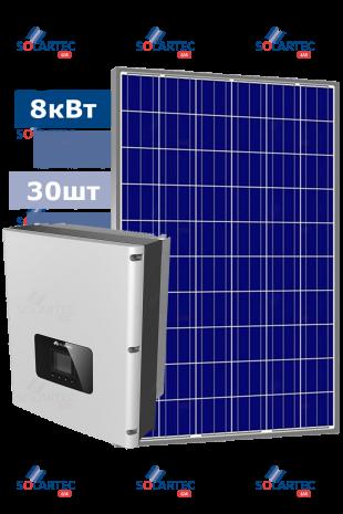 Сетевая CЭС 8 кВт на базе инвертора Huawei
